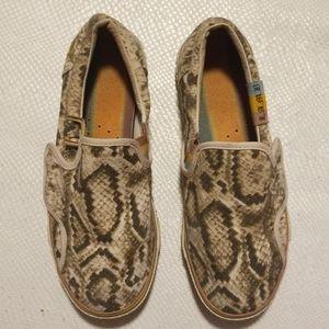 LAMB animal print slip on sneakers size 8